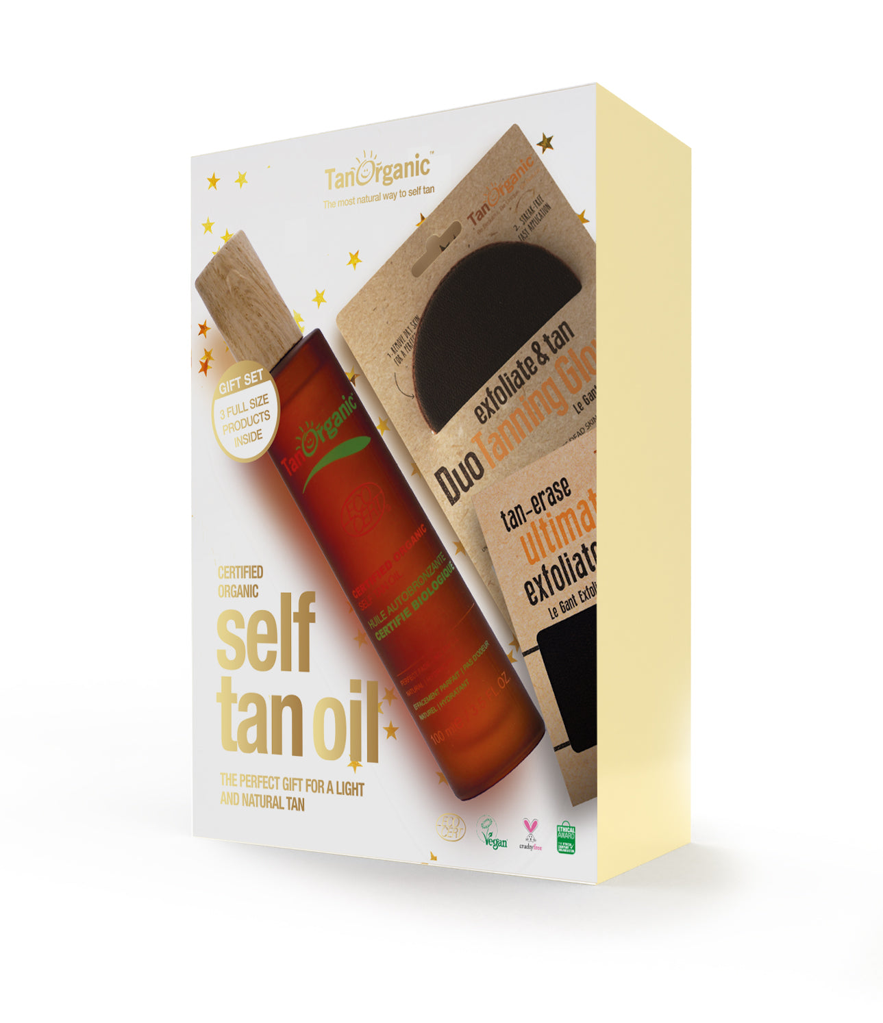 Tan Organic Self-Tan Light to Natural Oil Set