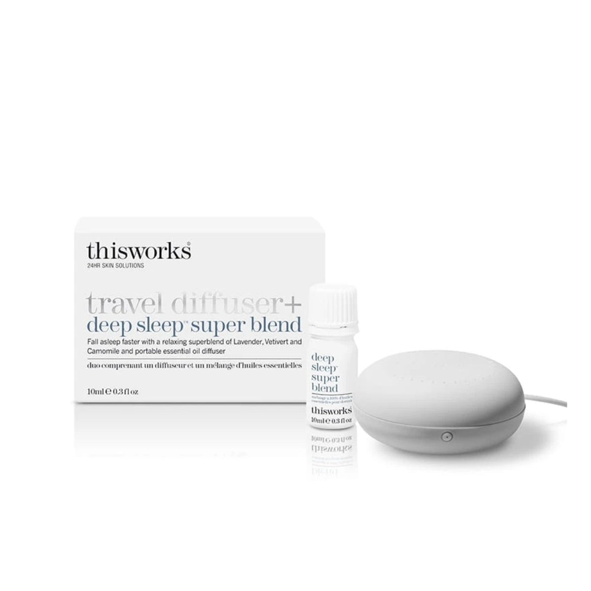 thisworks Travel Diffuser + Deep Sleep Super Blend 10ml