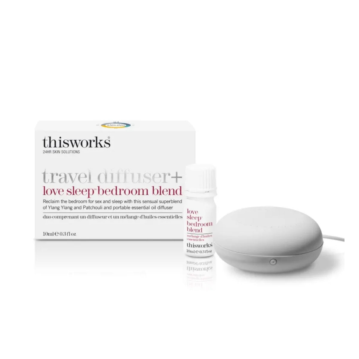 thisworks Travel Diffuser + Love Sleep Bedroom Blend 10ml