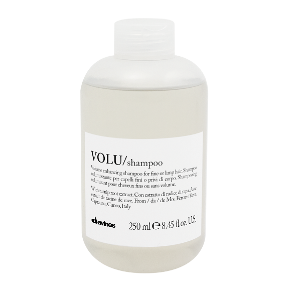 250ml Davines Volu Shampoo is a volumising shampoo for fine, lank hair. Hair is gently cleansed leaving it soft and light with a long lasting boost of body and volume.