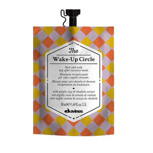 50ml Davines The Wake-Up Circle Mask is an invigorating mask that brings life and volume to lank hair and deep hydration to your scalp.