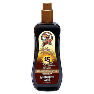 Australian Gold SPF15 Spray Gel Sunscreen with Instant Bronzers