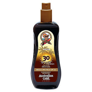 Australian Gold SPF30 Spray Gel Sunscreen with Instant Bronzers