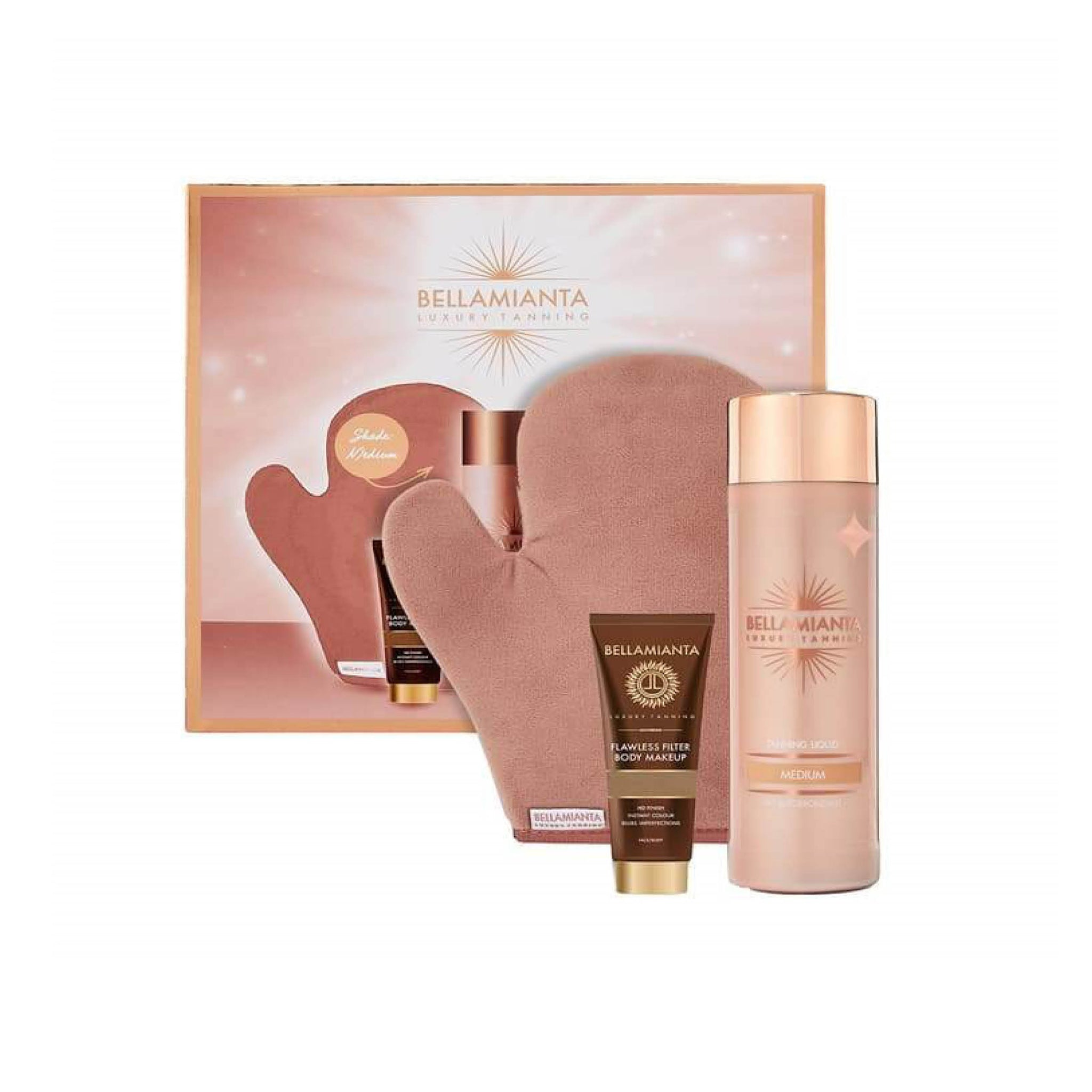 Bellamianta Luxury Tanning Liquid Gold Lovers Medium Gift Set