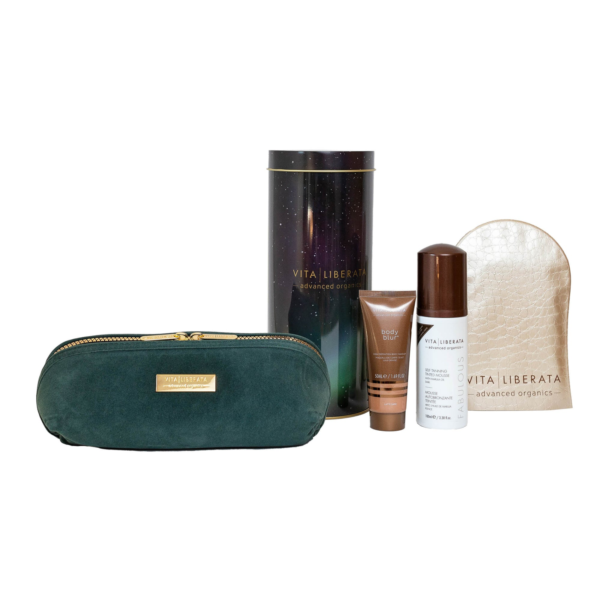 Vita Liberata Fabulous Tan & Glow Dark Mousse Gift Set