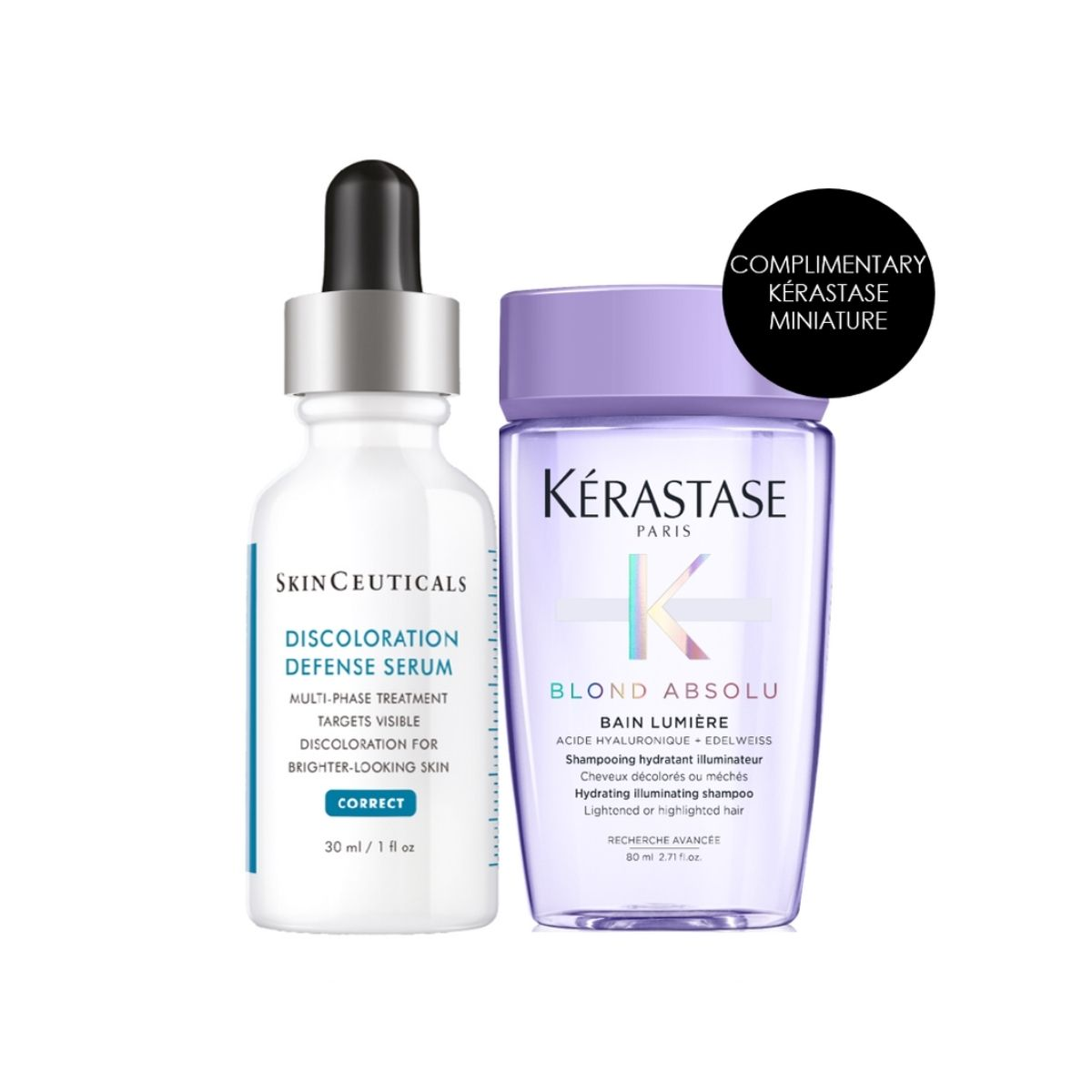 Discolouration Bundle: SkinCeuticals Discoloration Defence Serum + Free Kerastase Mini