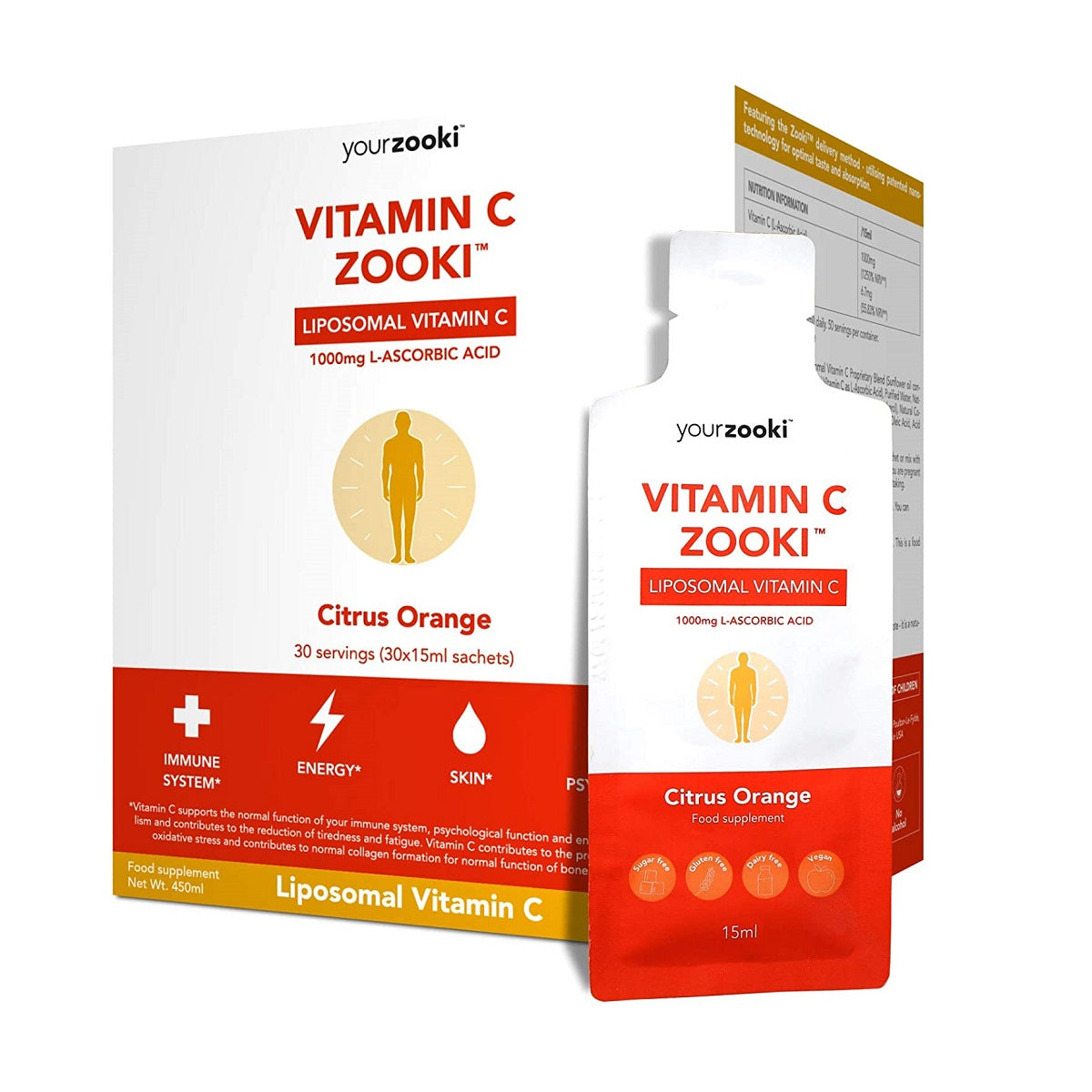 Yourzooki Vitamin C Zooki, Liposomal Vitamin C 30 Servings
