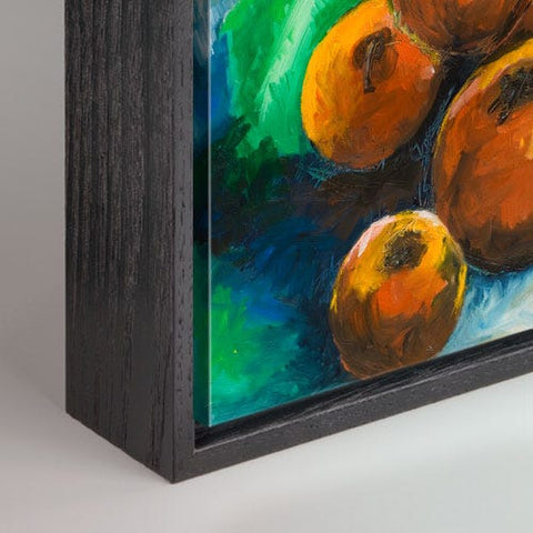 Black Wood Canvas Box Frame
