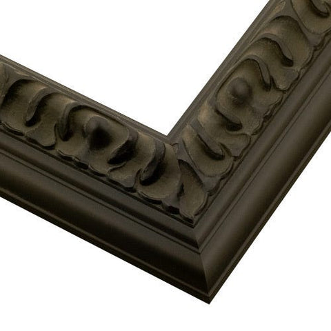 Black Sculpted Wood Picture Frame