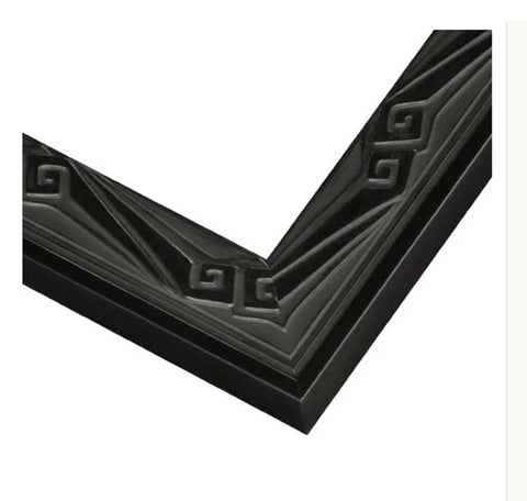 Black Lacquer Art Deco Picture Frame