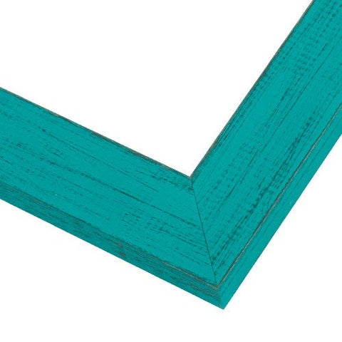 French Teal Wood Picture Frame