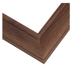 Wide American Walnut Wood Picture Frame