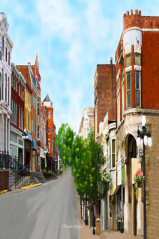 Winchester Kentucky,South Main Street, Giclee Print on Fine Art Paper Canvas or Wood by Brenda Salyers Arts - BSAhomegoodies.com