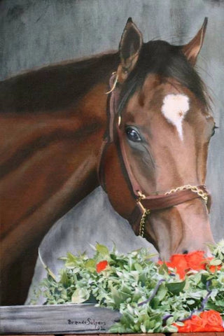 Barbaro, Kentucky Derby Winner 2006 Churchhill Downs Giclee Print on Fine Art Paper Canvas or Wood by Brenda Salyers by Brenda Salyers - BSAhomegoodies.com