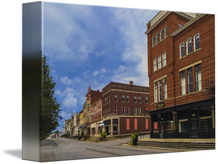 Lexington Ave and Main Street Winchester Kentucky Fine Art Giclee Prints on Canvas Paper or Wood by Brenda Salyers Arts - BSAhomegoodies.com