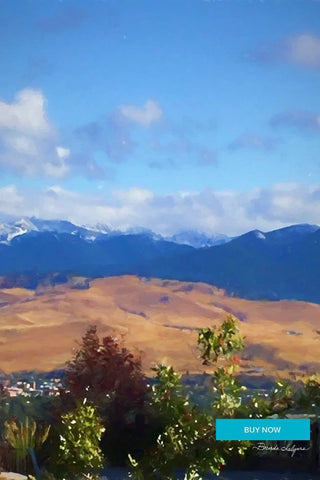 Mountains Fine Art Print on Paper Canvas or Wood by Brenda Salyers by Brenda Salyers Arts - BSAhomegoodies.com
