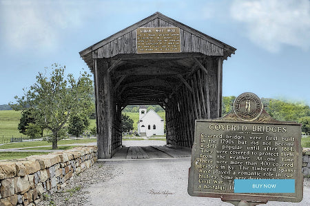 Goddard Covered Bridge Flemingsburg, Kentucky Giclee Print on Fine Art Paper Canvas or Wood by Brenda Salyers Arts - BSAhomegoodies.com