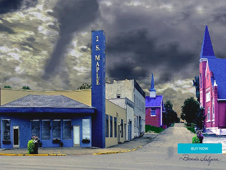 West Broadway Street Winchester Kentucky Fine Art Giclee Print on Paper Canvas or Wood by Brenda Salyers Arts - BSAhomegoodies.com