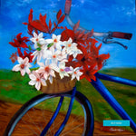 Bicycle Flower Basket Kentucky, Brenda Salyers Fine Art Giclee Print on Paper Canvas Wood by Brenda Salyers by Brenda Salyers - BSAhomegoodies.com