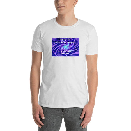 Gildan 64000 Unisex Softstyle T-Shirt with Tear Away Label My World - BSAhomegoodies.com