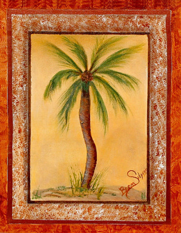Palm Tree, Giclee Print on Fine Art Paper Canvas or Wood by Brenda Salyers Arts - BSAhomegoodies.com