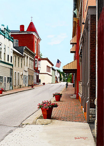 Flemingsburg Kentucky Giclee Print on Fine Art Paper Canvas or Wood by Brenda Salyers Arts - BSAhomegoodies.com