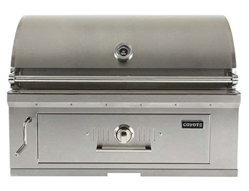 "Coyote 36"" Charcoal Grill - Coyote Built In Outdoor Charcoal Barbeque Grill"