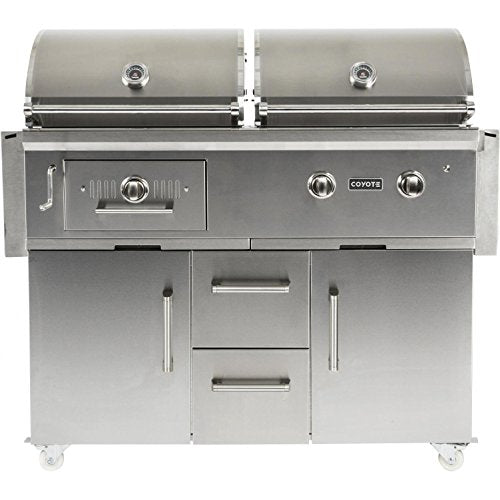 "Coyote Centaur 50"" Freestanding Propane Gas/Charcoal Dual Fuel Grill - Coyote Grill"