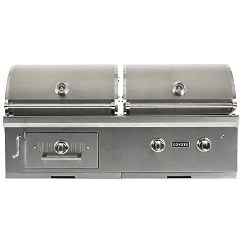 "Coyote 50"" Hybrid Grill Built In - Coyote Gas Electric BBQ Grill"