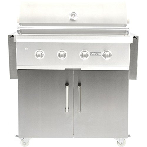"Coyote 36"" Stainless Steel Grill - Coyote Built In Outdoor Charcoal Barbeque Grill"
