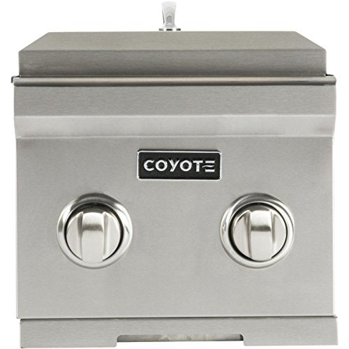"Coyote 12"" Double Side Burner Built-In (C1DB) - Coyote Gas Outdoor Refrigerator S & C Series Grill"