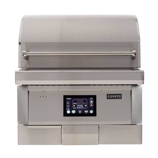 "28"" Coyote Built-In Pellet Grill"