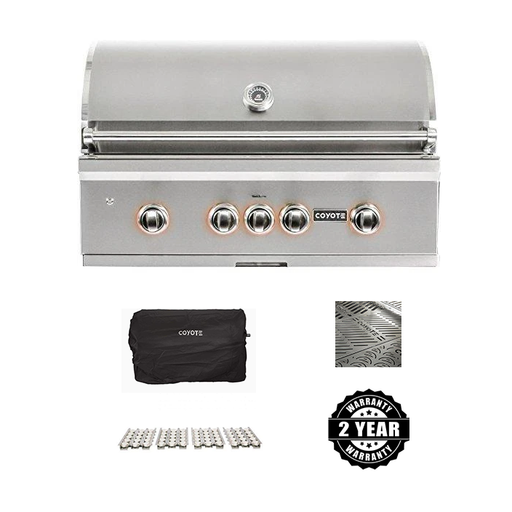 "Coyote Pro Series 36"" Package - Includes Grill, Cover, Briquettes, 2 Year Parts/Labor Warranty & Signature Grates"