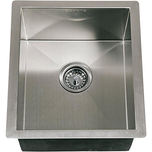 Coyote 16 X 18 Outdoor Stainless Steel Sink - Coyote Built In Outdoor Charcoal Barbeque Grill
