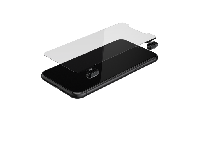 Gaming Glass Screen Protector for iPhone 11 - Black Button Version