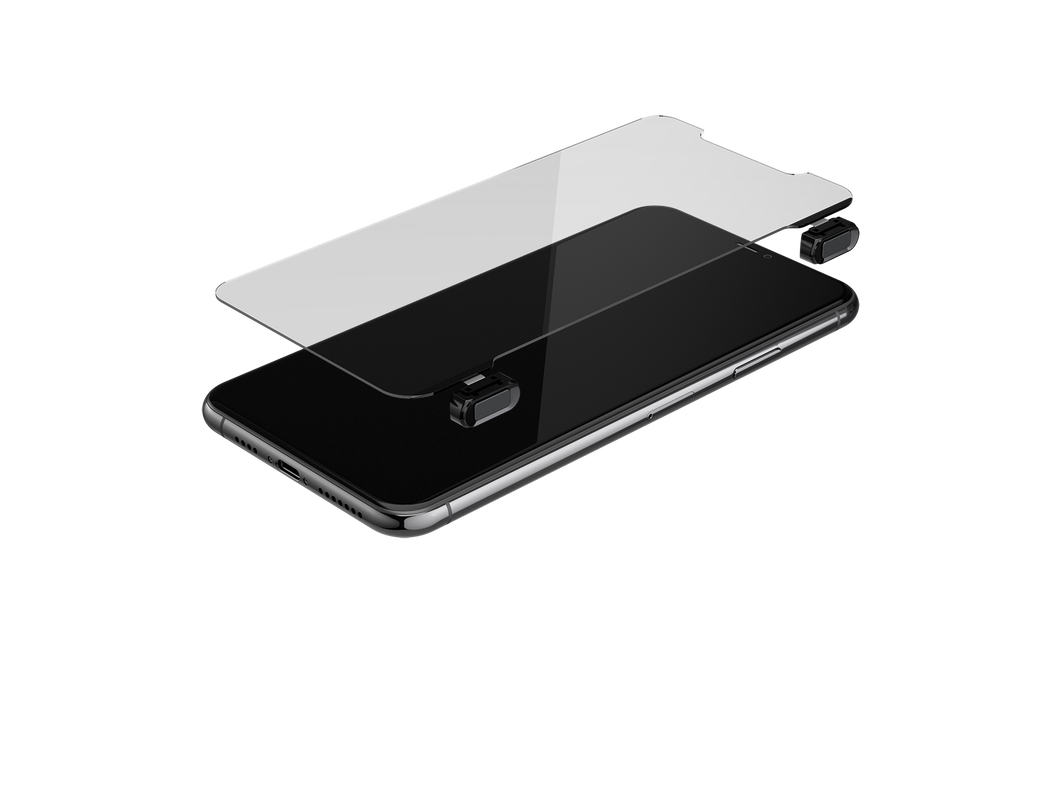 Gaming Glass Screen Protector for iPhone 11 Pro Max - Black Button Version