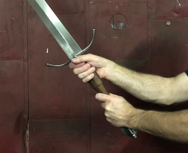 15th C longsword in hand