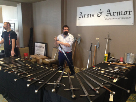 Selling swords at Longpoint 2019