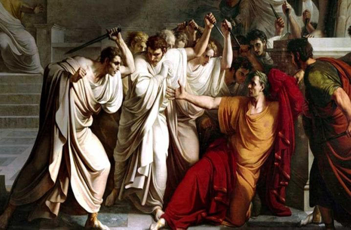 Death of Caesar from old painting.