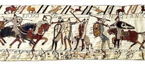 Combat scene from the Bayeux Tapestry