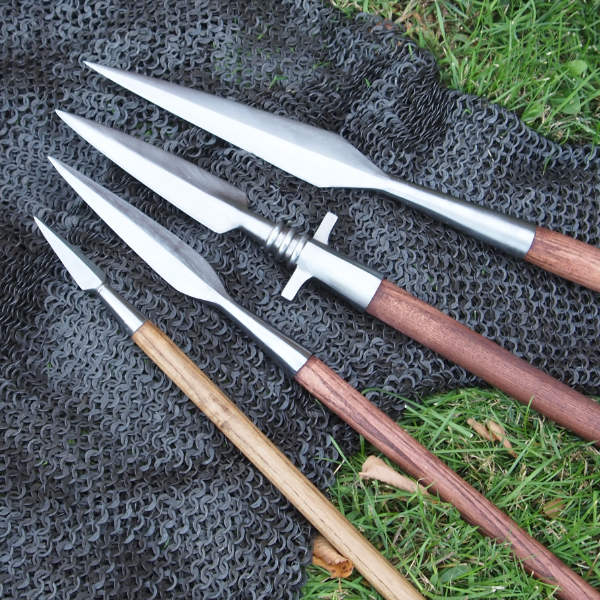 Variety of spears and javelins from Arms & Armor
