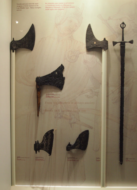 Irish Axes in the NationaL Archeology Museum of Ireland