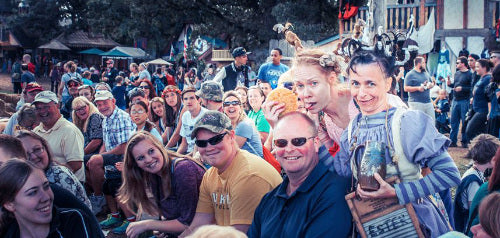 Good Looking CRowd at the Ren Faire