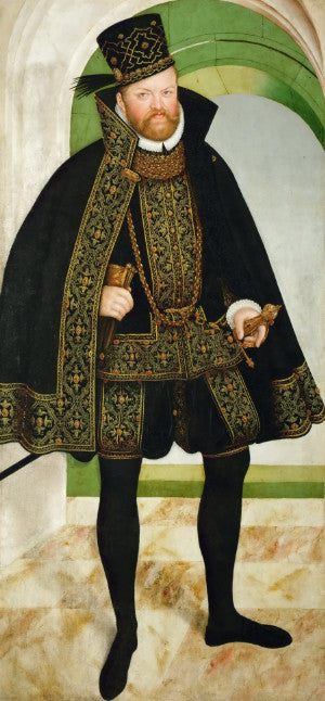 Elector of Saxony Augustus from painting in Vienna