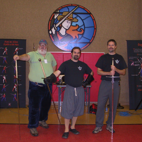 Instructors at the first Montante class at WMAW 2006, Steve Hich, Puck Curtis & Eric Myers