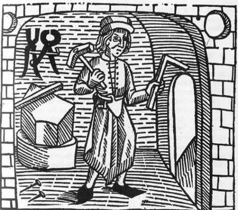 Medieval smith woodcut.