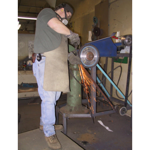 Modern belt grinding in the Arms & Armor Shop