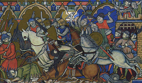 Morgan Bible battle scene showing dagger.