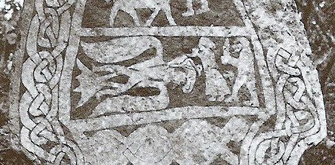 Odin in the form of an eagle steals the secret of mead poetry