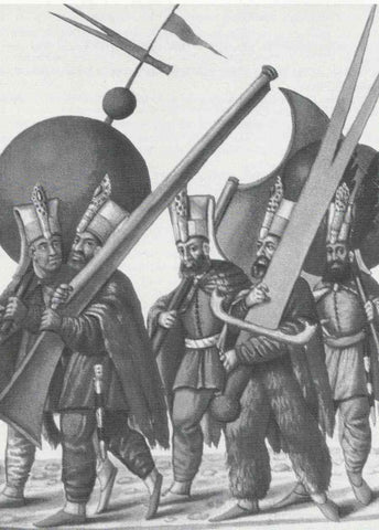 Ottoman Janissaries with giant weapons